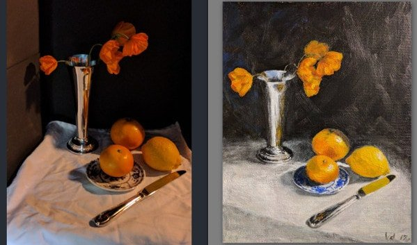 Setting up a still life